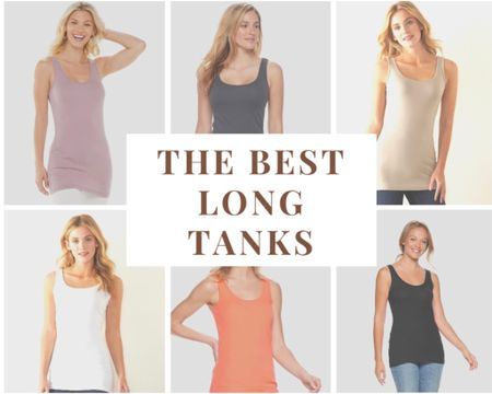 . . I found the best long tanks!!  I like having a long tank to wear under sweaters and sweatshirts that are a bit shorter.  These are super soft and only $10 each, if you buy 2!  The sweatshirt shown is my current favorite and it's less than $12.   http://liketk.it/37rDY #LTKsalealert #LTKstyletip #LTKunder50 #liketkit    You can instantly shop my looks by following me on the LIKEtoKNOW.it shopping app @liketoknow.it
