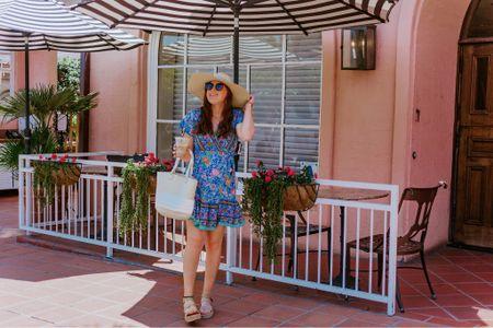 Summer style, dress under $25 size S, straw bag for the beach, cat eye sunglasses,  http://liketk.it/2Rc06 #liketkit @liketoknow.it #LTKunder50