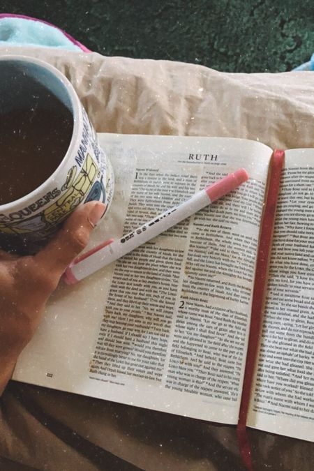I love my wide margin journaling Bible. Mildliner highlighters are my favorite for Bible journaling because they don't bleed through thin pages.  Shop my favorite Bibles & Bible journaling supplies.   #LTKunder50 #LTKhome #LTKfamily