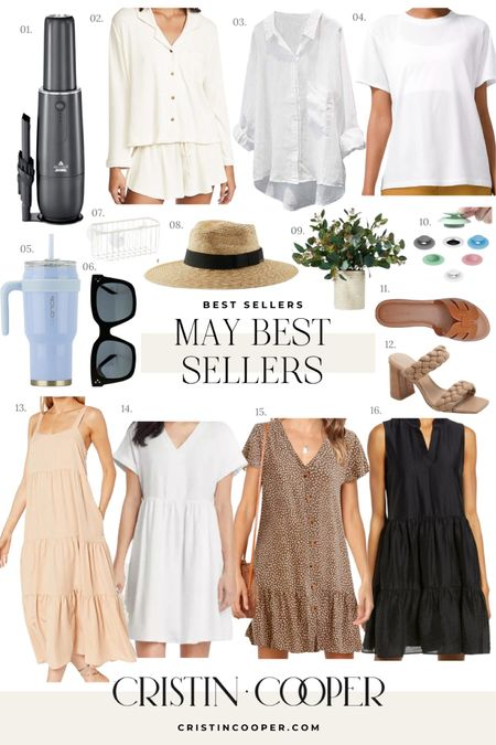Monthly Best Sellers // dresses, lounge, cover up, sunglasses, tumbler, handheld vacuum, drain stopper, shoes, faux plant, sun hat http://liketk.it/3gChv #liketkit @liketoknow.it
