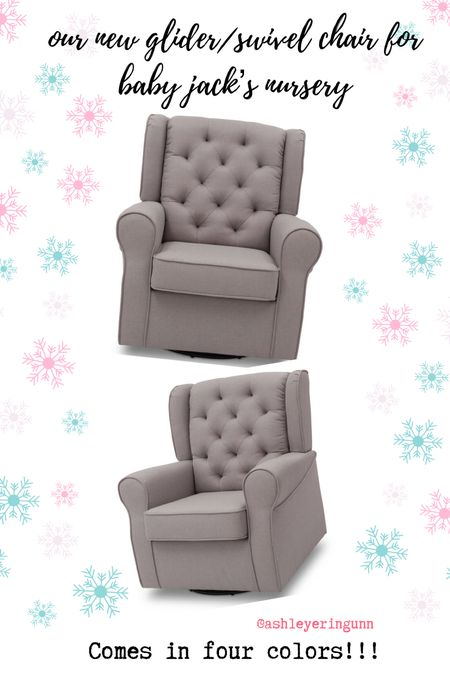 Love our new glider swivel chair for Jack's nursery. Super comfy and high enough back that I can rest my head too. Comes in four colors - we got French grey!   #LTKhome #LTKfamily #LTKbaby