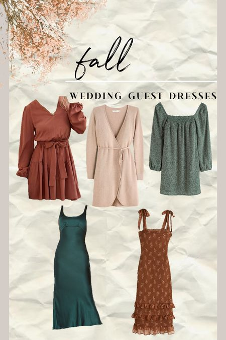 Fall wedding guest dresses for your next wedding! #wedding #fallwedding   #LTKSale #LTKwedding #LTKstyletip