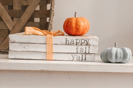 Happy fall y'all. Spent the day today adding some fall decor to my home including these stacked books.   http://liketk.it/2Vvc4 #liketkit @liketoknow.it   #StayHomeWithLTK #LTKhome #LTKunder50