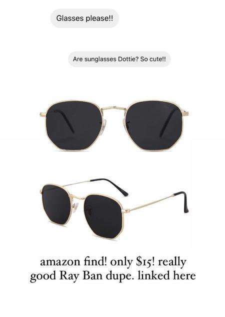 Ray ban designer dupe sunglasses, amazon finds sunnies, amazon fashion, summer style must have   #LTKSeasonal #LTKstyletip #LTKunder50
