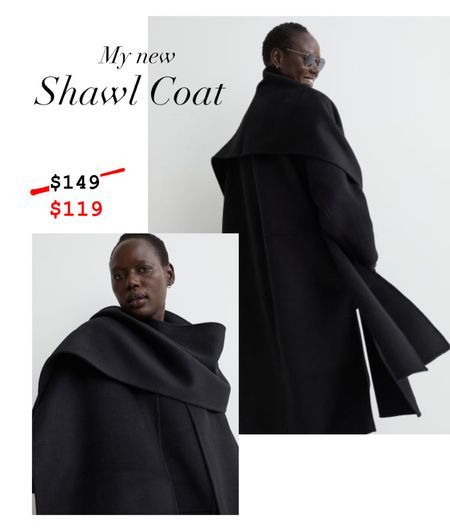 This black shawl coat will be beautiful for every type of event this season. It dresses up so well for work and holiday parties but is a chic everyday coat. It's a wool blend and is currently on 20% off for members (which is free to sign up). I got a size small.   #LTKsalealert #LTKHoliday #LTKworkwear