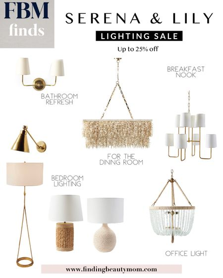 Serena & Lily lighting sale, chandeliers on sale, breakfast nook, dining room lighting, bedroom lamps, coastal home decor, vacation home style, bathroom sconce, entryway lighting, foyer lighting, office lighting, rattan, natural home decor, finding beauty mom     #LTKhome