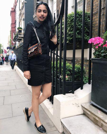I bleed in black 🖤☺️ Who's ready for the weekend? #blackdress #lbd #littleblackdress #iroparis #irodress #irominidress #bodycondress #pradashoes #pradaflats #pradaespadrilles #tods #todsbag #todspurse #diorsoreal #diorsunglasses #indianfashionblogger #indianfashion #fblogger #londonstyle #londonfashion #europefashion #fashion_eu #liketkit @liketoknow.it http://liketk.it/2wktf