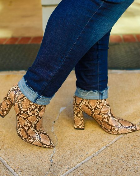 I can honestly say @justfabonline came through with these snakeskin booties and they unbelievably comfortable! Head over to my Instastories to grab these booties for only $10 if you become a VIP member! #justfabpartner  * * Screenshot this picture to shop these booties on @liketoknow.it   http://liketk.it/2GgXM #liketkit