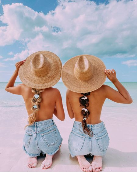 """Beach Babes 🏝☀️  Body positivity post! Every body is a bikini body and beautiful! Please don't ever comment on someone else's body.  I remember getting bullied all my life for being """"too skinny"""" even though it's been genetics.  I'll never forget the many nights I would cry from people constantly saying """"ew you're too skinny"""" """"omg look how skinny that girl is"""" """"she looks so malnourished and sick"""" """"you're the reason people starve themselves"""" """"you're the reason people make themselves throw up.""""  People even still DM or comment """"way too skinny."""" I've gotten messages saying """"if only you could gain a little bit more weight I think you'd be hot."""" Like NOBODY asked you SIRS!   I thought this would end now that this year I finally got over the 100lb mark (which i've been trying to do for years after the constant bullying) but nope! About two weeks ago I was taking photos and a couple about my parents age said """"ugh look at how skinny she is. It's way too skinny."""" I've now realized it doesn't matter how much you gain or lose some people will always have a problem with your body for someone unknown reason.  I am happy with my body now and It seems sad to me that the only reason I wasn't happy about my body before was because of the consistent body shaming I received on the daily. Sometimes people's bodies are meant to be how they look! And it's really no one else's business. So remember to always love yourself and others!   Btw this was a topless beach but for everyone's info I was holding my top from the front and so was my friend.   Love you all and sending you all the positive vibes 💖 http://liketk.it/3b1Bh #liketkit @liketoknow.it"""