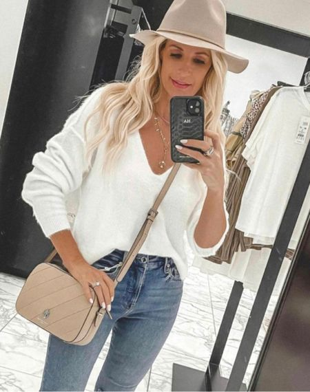 The softest sweater ever and it's a beautiful white for fall and winter!!  It runs tts I'm wearing an Xs.   #LTKunder50 #LTKSeasonal #LTKstyletip
