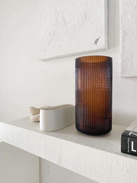 Rubbed glass vase.  Ceramic jar 3 wick candle  #LTKstyletip #LTKhome #LTKsalealert