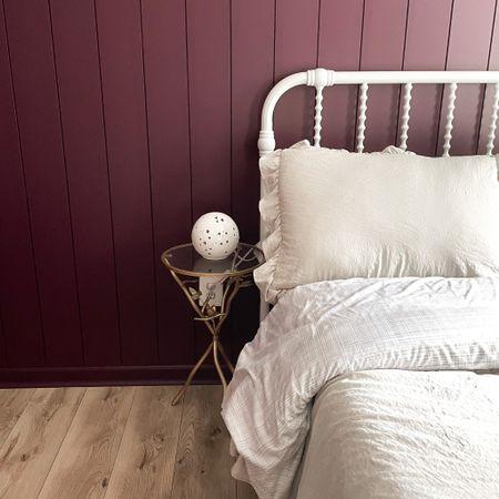 #LTKday, overstock, bed, duvet, bed frame, night light, nightstand, pillow, girl bedroom, purple room  #LTKunder50 #LTKsalealert #LTKhome