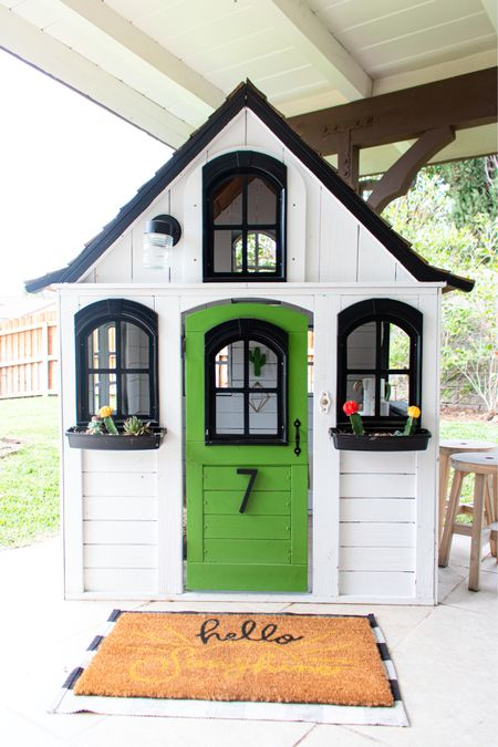 Diy dreams are made of these. The most delicious playhouse.   All the details at greenandwell.co    #LTKfamily #LTKhome #LTKkids