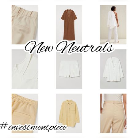 Soft tailoring. Chic neutrals. Everything you need for summer and the transition into fall  @hm #investmentpiece   #LTKunder50 #LTKstyletip