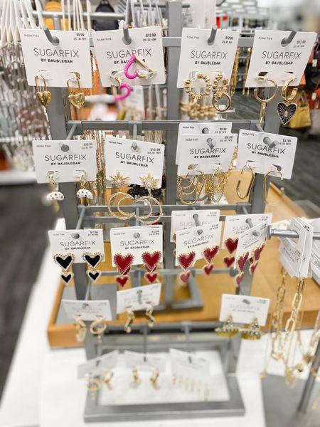 Sugarfix target earrings! All great affordable options. #targetstyle #target #earrings   #LTKstyletip #LTKunder50 #LTKSeasonal