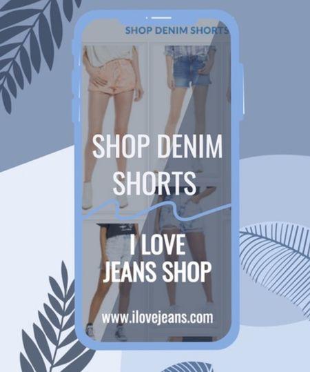 I Love Jeans Shop has fabulous handpicked denim shorts. Long shorts, cuffed shorts. Boyfriend shorts,  paper bag shorts,  slouchy shorts. Distressed shorts, cut off shorts   #LTKstyletip #LTKeurope