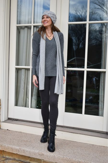 A comfortable, easy and achievable fall look! Pair your best knitted sweater with some of your favorite fall accessories. | #falloutfit #workwear #workoutfit #businesscasual #combatboots #knittedsweater #fallsweaters #womenssweaters #bestsellers #JaimieTucker  #LTKSeasonal #LTKstyletip #LTKworkwear