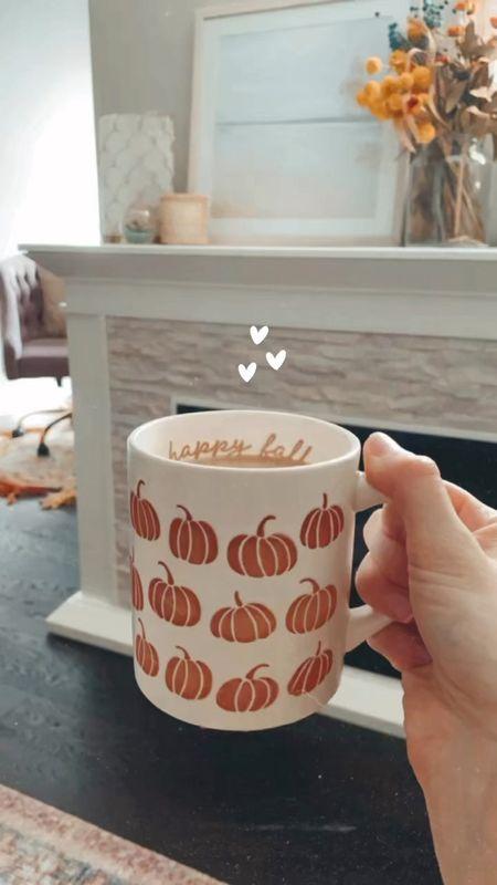 Fall pumpkin mug. Target mug. fall coffee mug.  #fallfinds #target #electricfireplace #falldecor #targetfinds #walmarthome #targethome #targetfall   #LTKhome #LTKSeasonal