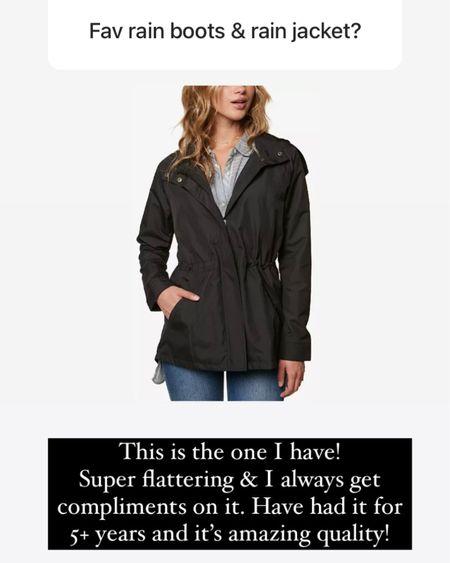 Favorite rain jacket - amazing quality!! Wearing a S #LTKunder100 #LTKunder50 http://liketk.it/3jGSA #liketkit @liketoknow.it