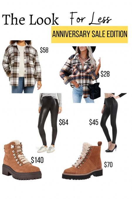 Nordstrom anniversary sale dupes              Amazon dupe  Amazon finds  Amazon fashion Nsale  Fall outfits  Shacket  Faux leather leggings  Combat boots   #LTKstyletip #LTKunder100 #LTKsalealert