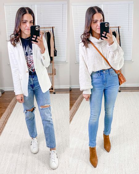 FALL ESSENTIALS: LIGHT WASH JEANS — Ultra high rise straight ankle jeans (tts), high rise skinny jeans (tts)   #denimlover #fashionguide #outfitstyling #denimlove #casualfashion #skinnyjeans #momjeans #comfystyle #boyfriendjeans #wearingtoday #straightjeans #outfitideasforyou    #LTKstyletip #LTKunder100
