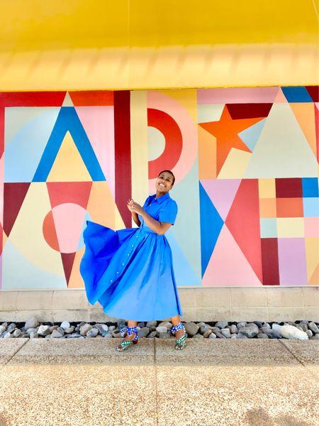 Blue shirtdress gingham wrap sandals #targetstyle #anntaylor  #LTKunder100 #LTKSeasonal #LTKstyletip