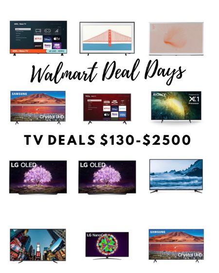 http://liketk.it/3i1F3 #liketkit @liketoknow.it #LTKsalealert #LTKhome #LTKtech TV deals from Walmart; ONN, Samsung, LG, TCL, Sony and more from $139-$2500 based on size and capability