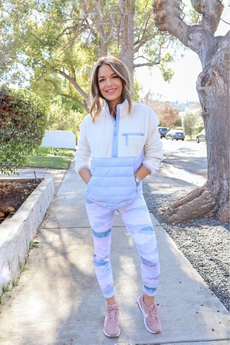 My Dad just sent me a video showing East Coast getting another dose of winter. Literally, ice hitting his windows. Here in California, this is what I consider cozy winter attire. ❄️   Feeling blue today... in all the right ways. [link in my bio to shop this look — which is on SALE!]  #LTKfit #LTKunder100 #liketkit http://liketk.it/37o2E   @liketoknow.it