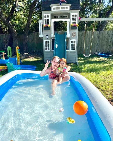 Saturday swim session in our little backyard oasis 💙 #ltkkids #ltkhome #ltkfamily http://liketk.it/2QtqZ #liketkit @liketoknow.it