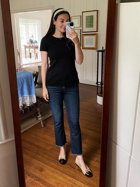 Cashmere t-shirt, j. Crew cashmere, preppy fall, black sweater