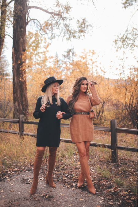 Sweater Dress, Fall Boots, Fall Outfits, Fall Family Photos, Aspen Colorado, Wool Hat, Fall Hat, Brown Boots, Flattering Dresses, Nordstrom @nordstrom  http://liketk.it/3pSUC  #LTKunder100 #LTKstyletip