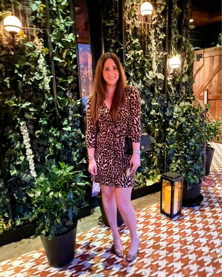 Didn't realize just how well I would match the restaurant decor at dinner but happy about it 🐆 🐆🐆 http://liketk.it/3d6RS #liketkit @liketoknow.it Download the LIKEtoKNOW.it shopping app to shop this pic via screenshot