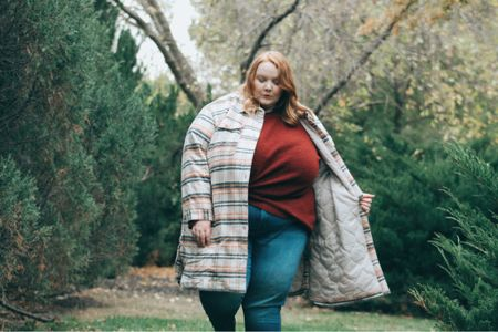 This long shacket is so perfect for a crisp fall day. 🍁   #LTKunder50 #LTKcurves #LTKstyletip