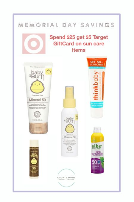 Target promo get a $5 gift card for every $25 spent of suncare this holiday weekend. Plus stack an additional 15% on baby toiletries with the Target Circle app offers.   http://liketk.it/3gqk4 #liketkit @liketoknow.it #LTKunder50 #LTKsalealert #LTKkids @liketoknow.it.family @liketoknow.it.home Shop your screenshot of this pic with the LIKEtoKNOW.it shopping app