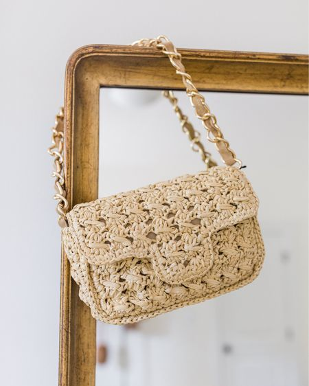 This woven bag is one of my favorite purchases recently. Linked similar! #wovenbag #wovenshoulderbag #shopbop #summerbag #wovenbags #shoulderbag