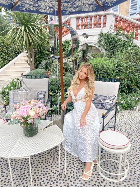 White O ring cutout dress for #diorcafe #whitedress #beachdress   #LTKstyletip #LTKtravel