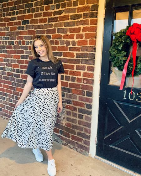 http://liketk.it/33Syl #liketkit @liketoknow.it Dalmatian dotted skirt ❤️