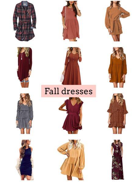 Fall dresses   #LTKstyletip #LTKunder50 #LTKSeasonal