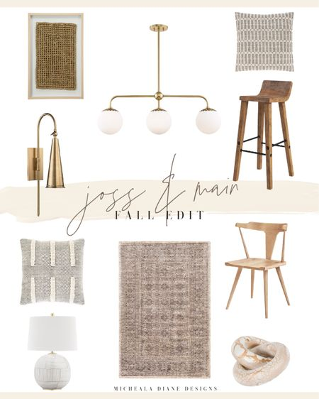 Neutral Home Decor. Vintage rugs, raw wood, metallic accents and lighting, woven art.   #LTKhome