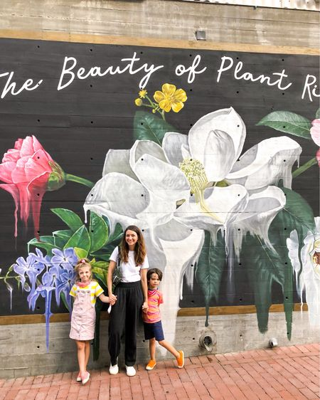 The Beauty of Plant Riverside 🌸🌹🌼 We stayed at The Alida in Savannah & it was beautiful! It was 2 blocks from the market & 1 block from the river walk making it super easy for us to walk to dinner or to get ice cream! Also, I wore these pants on the ride to Florida & back… they're GOOD! #sustainablestyle #travelstyle #fallstyle  #LTKfamily #LTKtravel #LTKSeasonal