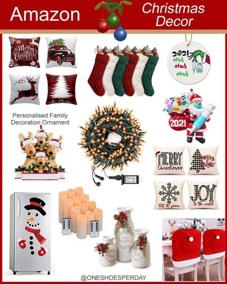 Amazon Christmas Decor  Home Decor          http://liketk.it/3q0in @liketoknow.it #liketkit #LTKGiftGuide #LTKHoliday #LTKSeasonal #LTKsalealert #LTKhome #LTKunder50 Trow Pillows | Indoor Decor | Ornaments | Indoor Decor | Outdoor Decor |