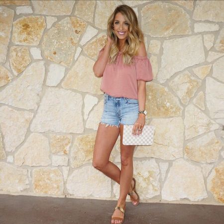 💗 NEW BLOG POST 💗 Check out this outfit on www.alexandrachristineblog.com & hear about our weekend plans! I'm loving all things blush lately & these shorts will be on repeat all summer! You can shop my entire outfit there or on @liketoknow.it !! Or you can type in http://liketk.it/2qP7B in your browser! #liketkit #LTKUnder50