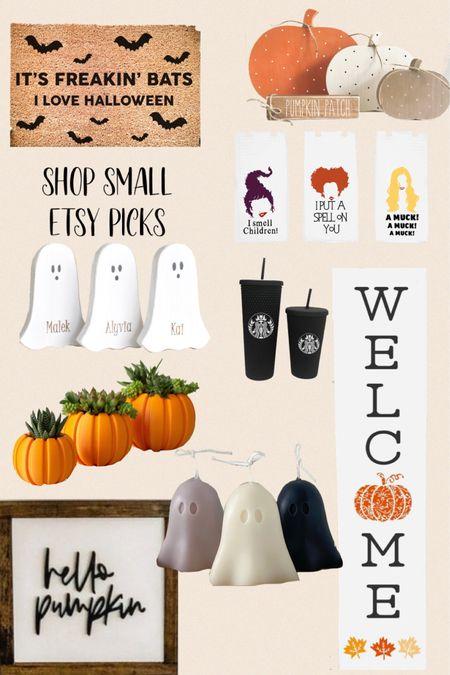 Shop small. Etsy picks for Halloween decor and fall decor   #LTKSeasonal #LTKHoliday #LTKhome