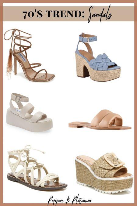 70s style sandals are here! @liketoknow.it #liketkit #LTKunder100 #LTKshoecrush #LTKunder50 #LTKSpringSale #LTKstyletip http://liketk.it/3eHj6