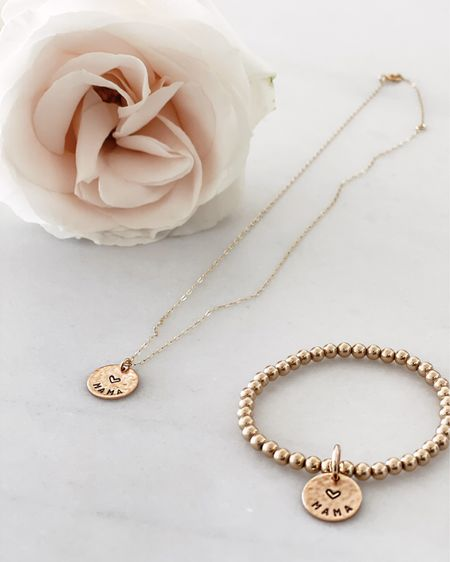 Stylin by Aylin collection, 14k gold filled jewelry, gift idea, mama collection, beaded bracelets, use code STYLIN10 for 10%   #LTKunder100 #LTKGiftGuide