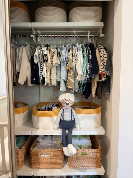 Closet makeover from the container store! Obsessed with this organization! Currently 25% off! #organization #closetmakeover #nursery  #LTKsalealert #LTKhome