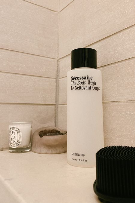 The @necessaire body wash is far and away the best thing that's happened to my skin. It's way more balanced and less irritated due to the niacinamide in this wash.   I normally get razor burn, but after using this consistently alongside body peels, irritation is virtually gone. It's linked here along with my sustainable body sponge.   #LTKhome #LTKunder50 #LTKbeauty