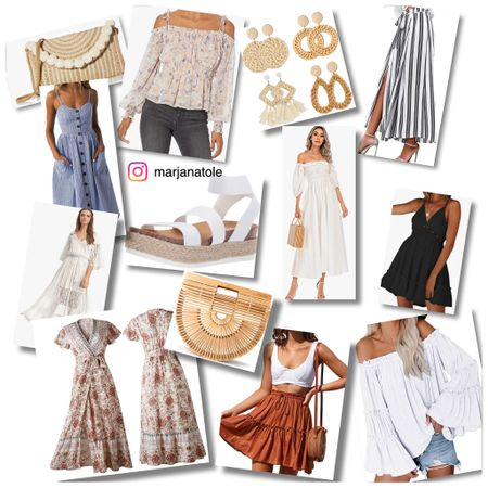 Favorite from Amazon fashion  Amazon  Fashion Dresses Sandals Earring   #LTKstyletip #LTKunder50 #LTKSeasonal