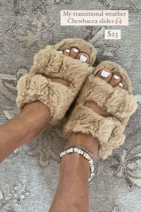 amazon fuzzy slide slippers #amazon #slippers #amazonfashion http://liketk.it/3ntdX #liketkit @liketoknow.it #LTKunder50 #LTKSeasonal