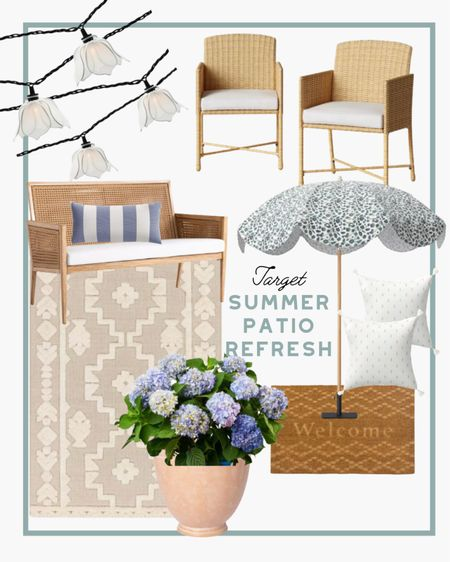 If you crave a bit more of a bohemian vibe for your outdoor space we put together this fun setup featuring some favorites from the Target sale! Love these rattan chairs for outdoor spaces. #patiofurniture #patiodecor #outdoordecor #homedecor #garden   #LTKhome #LTKSeasonal #LTKsalealert